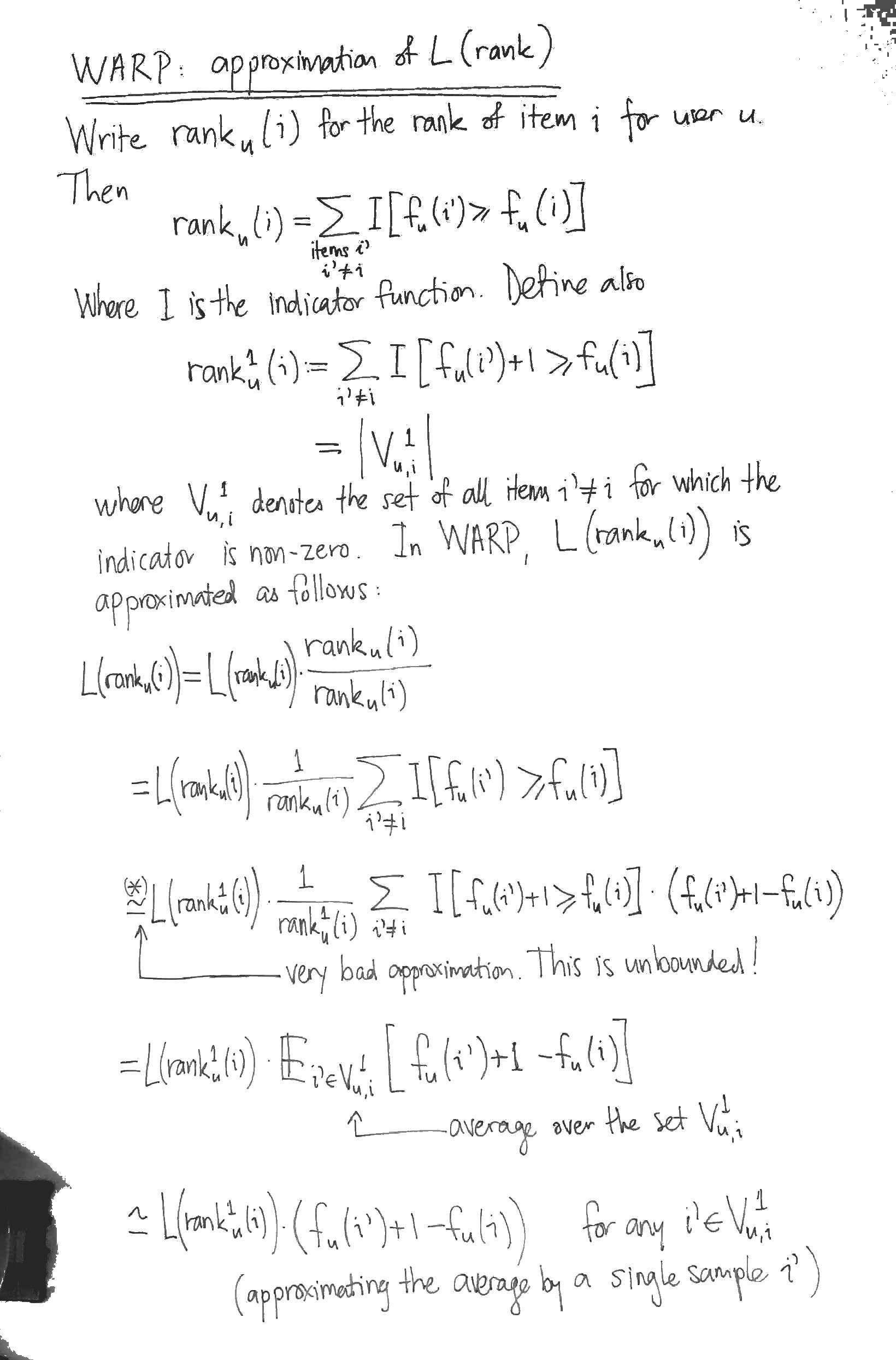 warp derivation